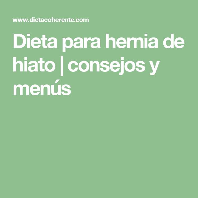 Dieta perfecta si tienes hernia de hiato