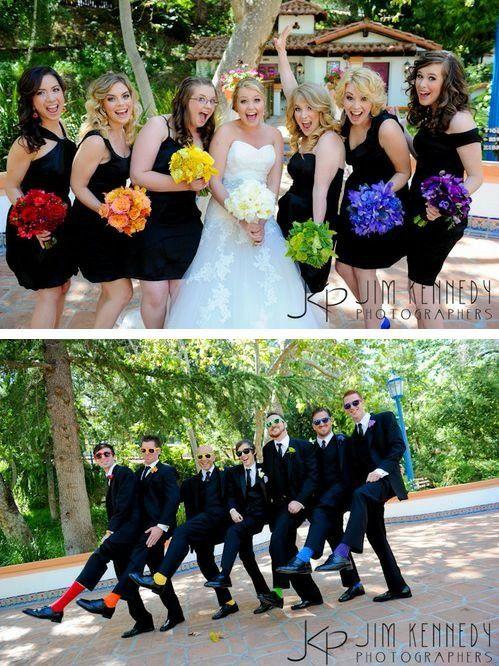 Damas Y Padrinos De Boda Rainbow Bridesmaid Dressesrainbow Wedding Dress Black