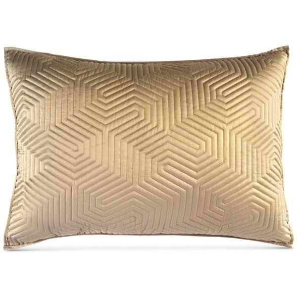 Dkny Helix Quilted King Sham 68 Liked On Polyvore Featuring Home Bed Bath Bedding Bed Accessories Go King Quilt King Size Quilt Quilted Pillow Shams