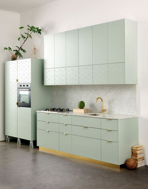Lichtgroen Goud Witte Keuken Google Zoeken Ikea Keuken Kleine Keuken Ontwerpen Groene Keuken