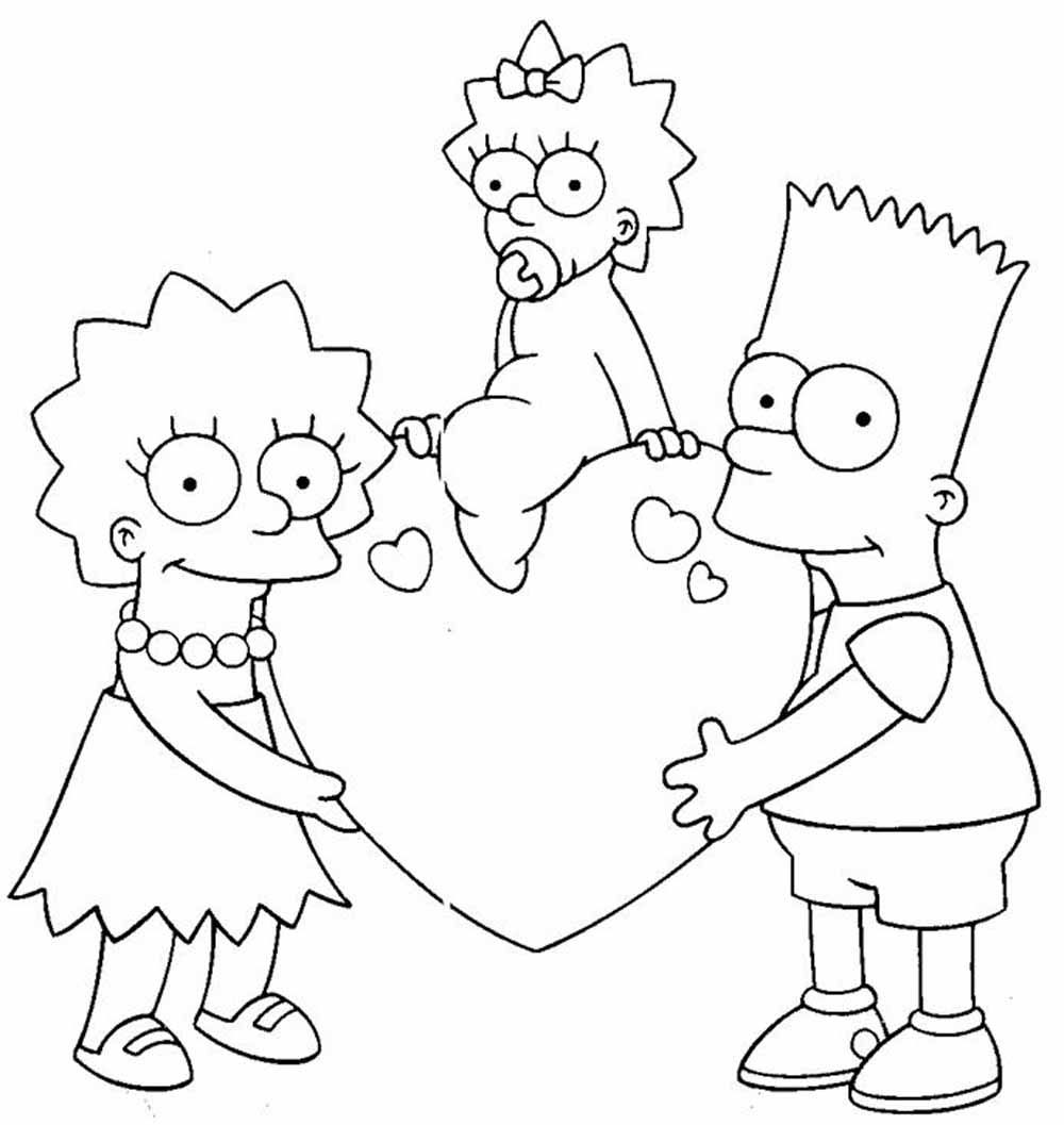 All about Simpson Family Coloring Page Free Printable Coloring Pages ...