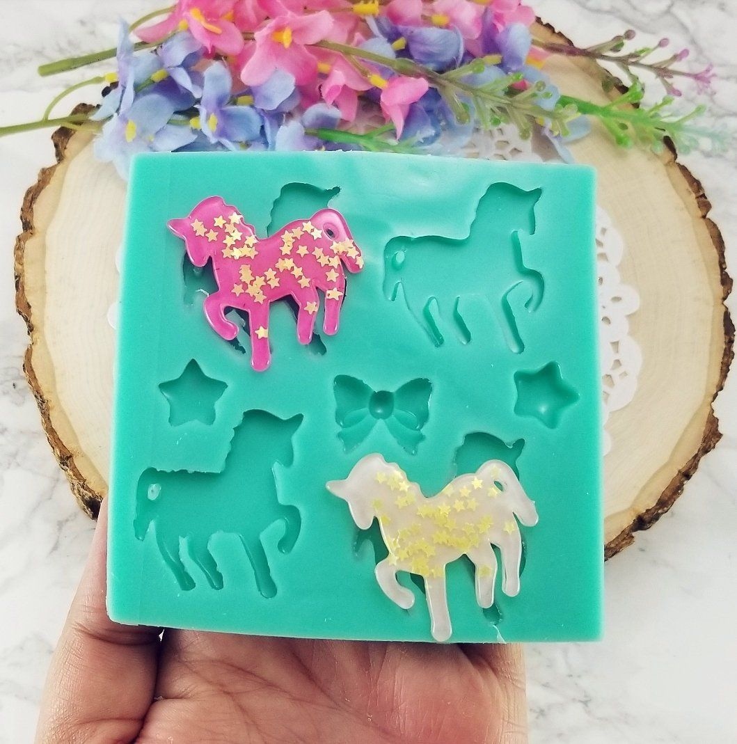 geode mold song mold resin mold  music keychain mold Glitter unicorn silicone resin mold diy epoxy mold  molds for resin