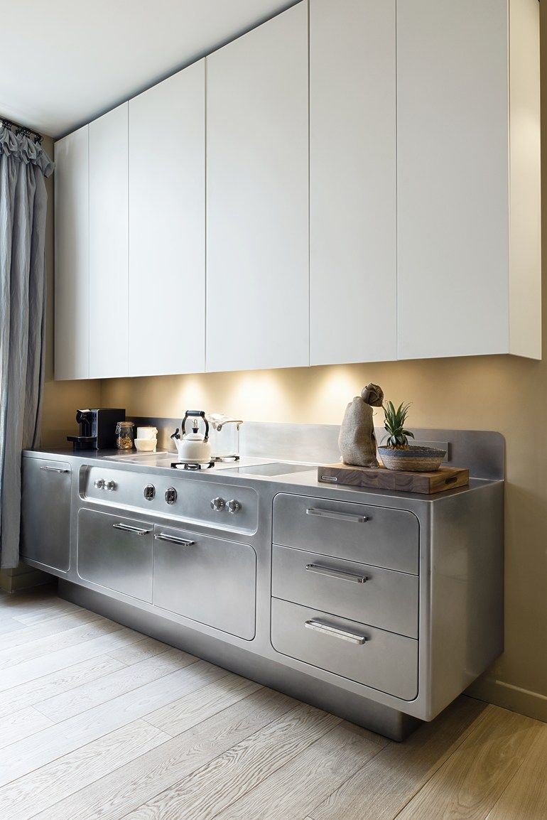 Ego Range Featuring Flush Doors With Rounded Corners Fully Integrated Into The Framework For Steel Kitchen Cabinets Kitchen Cabinets Prices Aluminium Kitchen