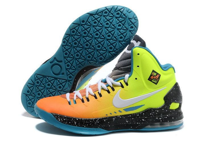 Nike Zoom Kevin Durant\u0027s KD V Surf Style Green/Orange Basketball shoes
