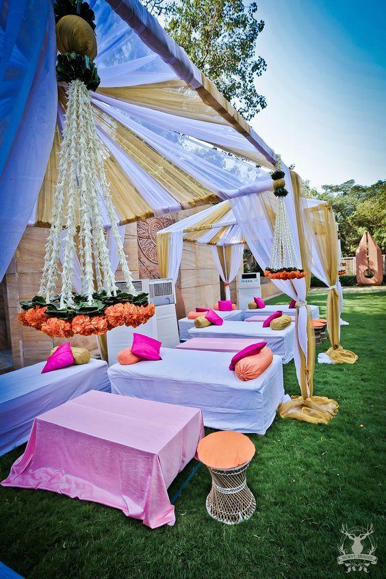 Decor Ideas For Haldi Mehendi Ceremony With Images Outdoor