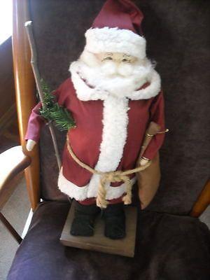 """18"""" christmas decoration santa claus primitive country doll figure decor"""