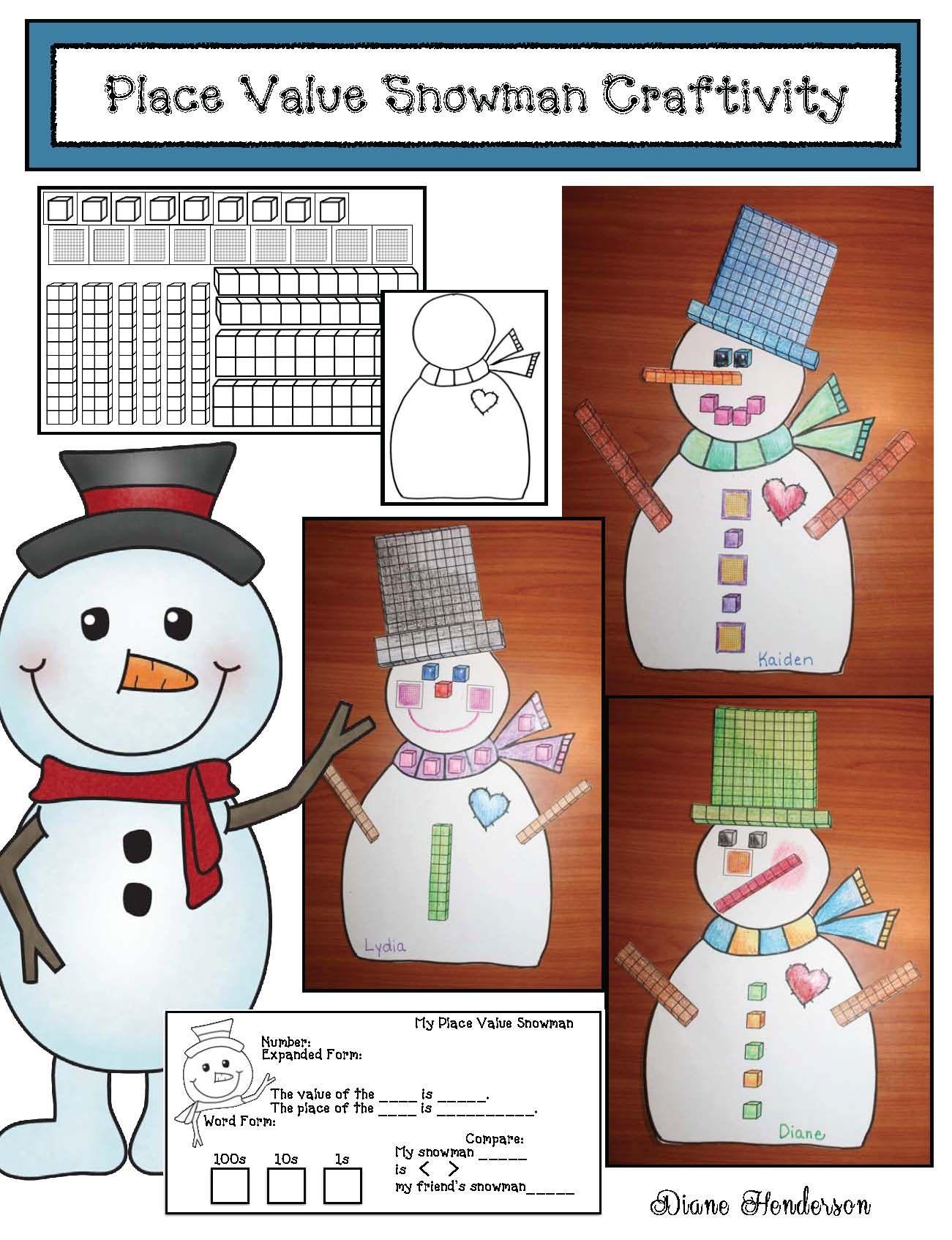 Snowman Craftivities