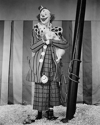 THE GREATEST SHOW ON EARTH (1952) - James Stewart as 'Buttons the Clown' - Produced & Directed by Cecil B. DeMille - Publicity Still.