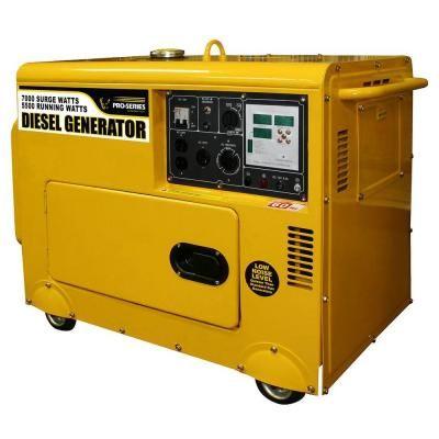 Pro Series 5500 Watt Diesel Powered Portable Generator With Digital Control Panel And Remote Start Gensd7d The Home Depot Portable Generator Generator House Power Generator
