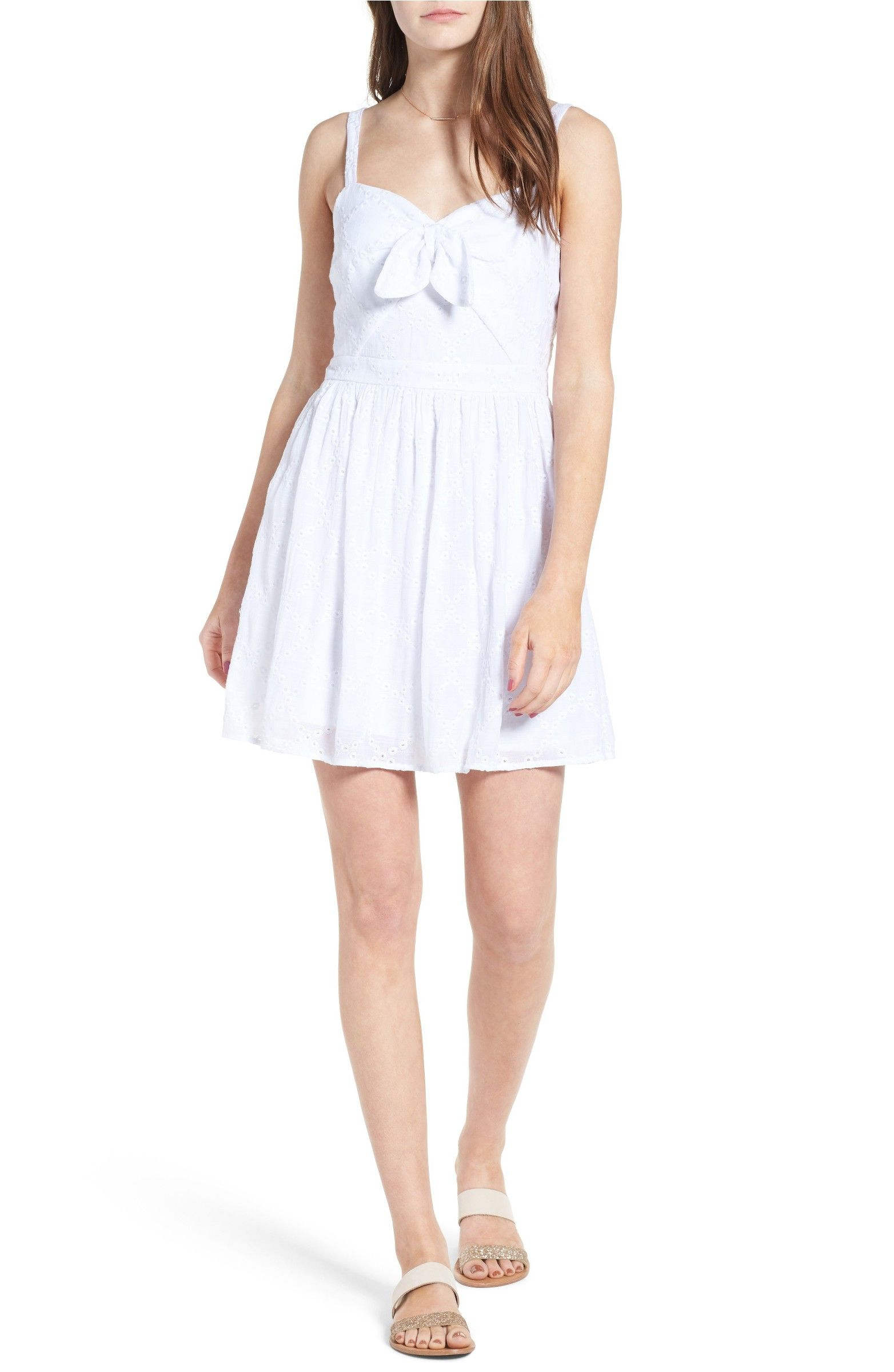 Main image love nickie lew tie front eyelet dress graduation