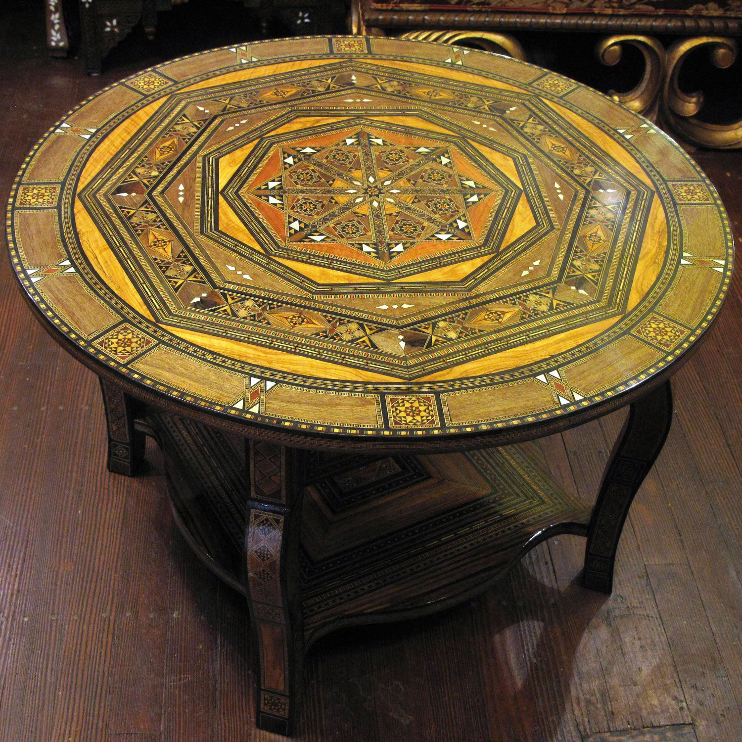Syrian Mosaic Round Coffee Table