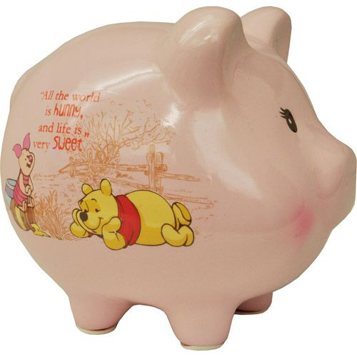 Disney Winnie The Pooh Piggy Bank Pink Finds For My Bff