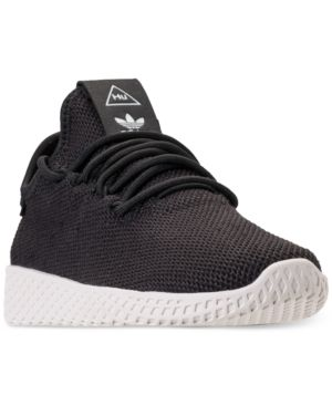 fb77a3cd8 adidas Boys  Originals Pharrell Williams Tennis Hu Casual Sneakers from Finish  Line - Black