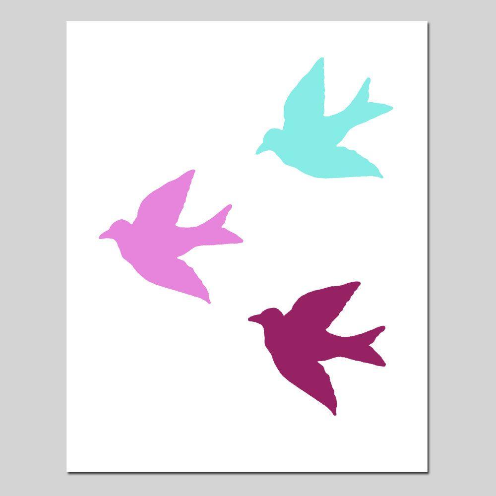Sale birds in flight x bird silhouette print wine red