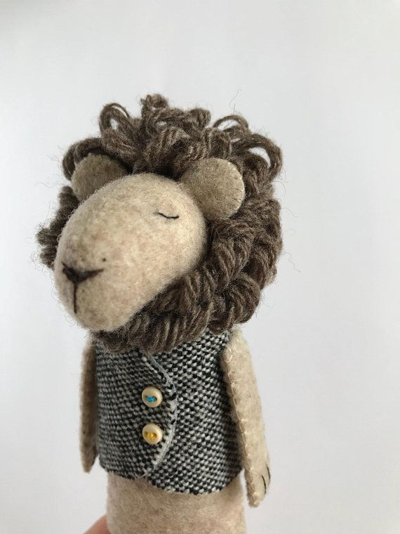 Lion Stuffed Animal, Stuffed Lion Toy, Felt Lion Figurine, Plush Toy, Lion Doll, Soft Animals, Felt Animals, Leo Gifts #stuffedanimals