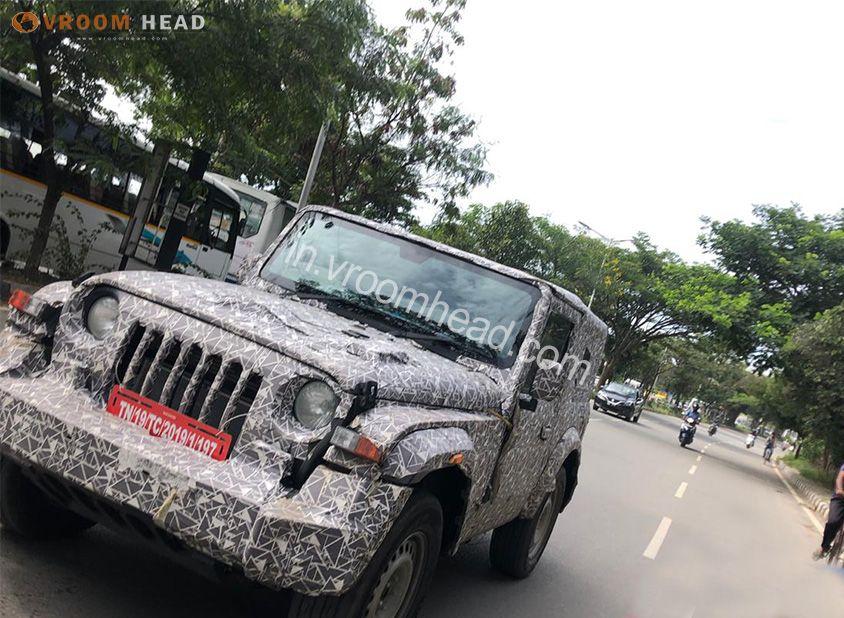 2020 Mahindra Thar Spied With Hardtop Launch Soon Mahindra