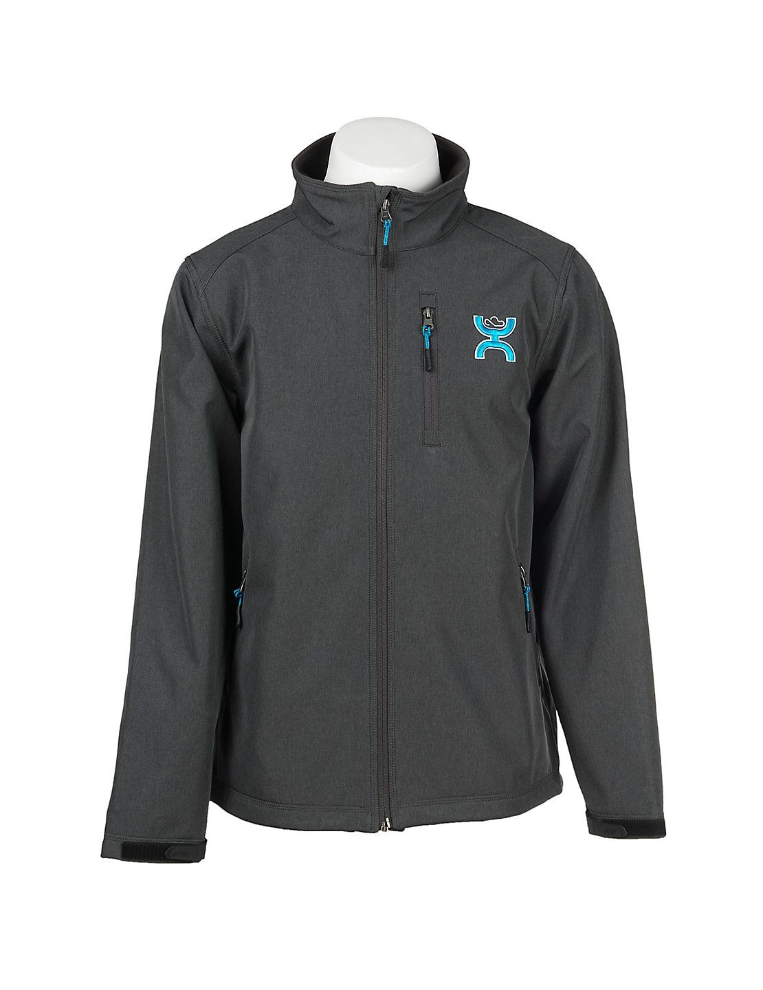 Hooey Men S Grey With Turquoise Logo Long Sleeve Bonded Jacket Cavender S Jackets Men Fashion Smart Casual Outfit Summer Mens Western Wear [ 1440 x 1110 Pixel ]