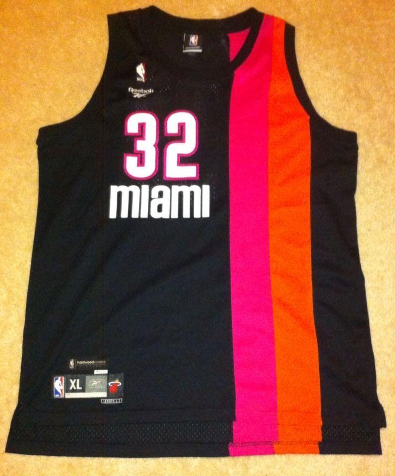 timeless design 564d9 38317 Hardwood Classics 1971-72 Miami Heat Shaquille O'Neal Reebok ...
