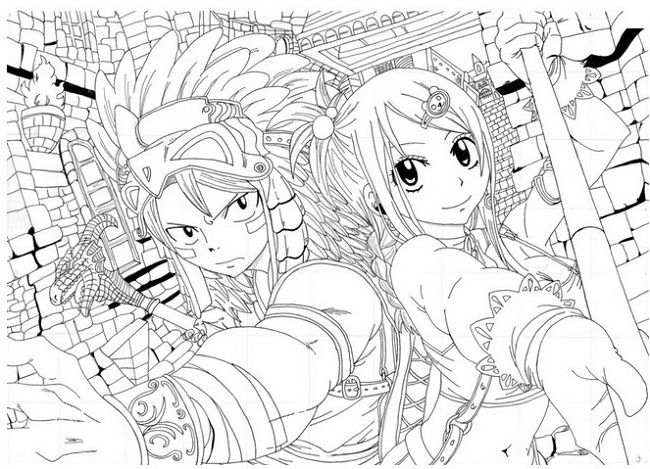 Fairy Tail Coloring Pages Anime