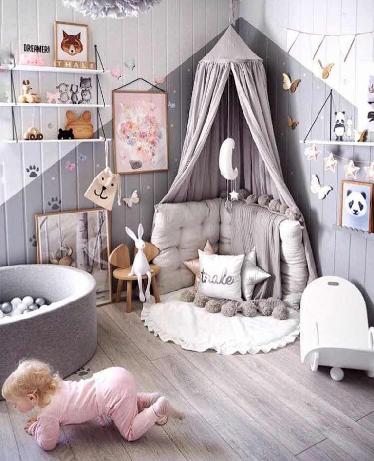 Como Decorar Un Cuarto De Juegos Para Ninas Moderno Y Con Estilo Kid Room Decor Play Corner Reading Corner Kids Room