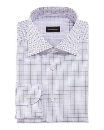 1fa8dddd Woven Graph Check Dress Shirt Purple | Dress the husband ...