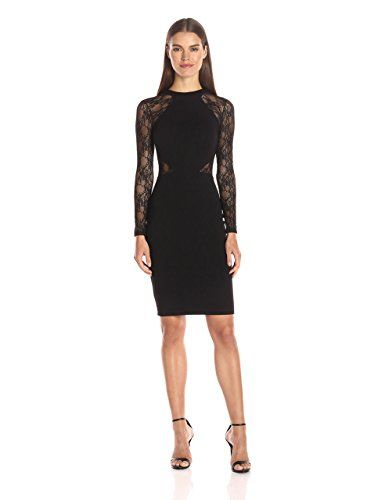 Amazon.com: French Connection Women's Viven Lace, Black, 10: Clothing