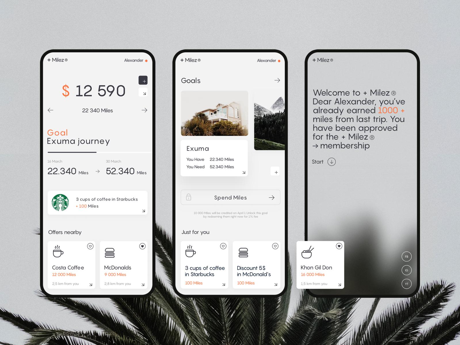Air → Miles 𐄂𐄂 App App, App design, Show, tell
