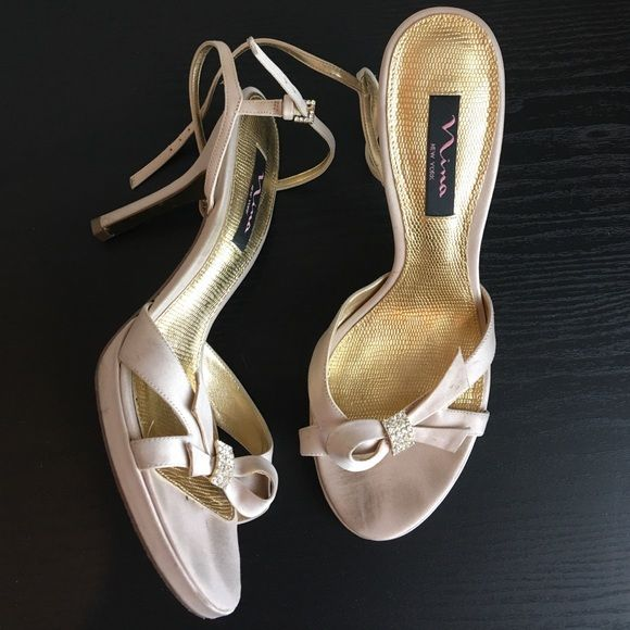 Nude On Bow Bows Heels And Will BuckleWorn Rhinestones OnceIt E9H2DWI