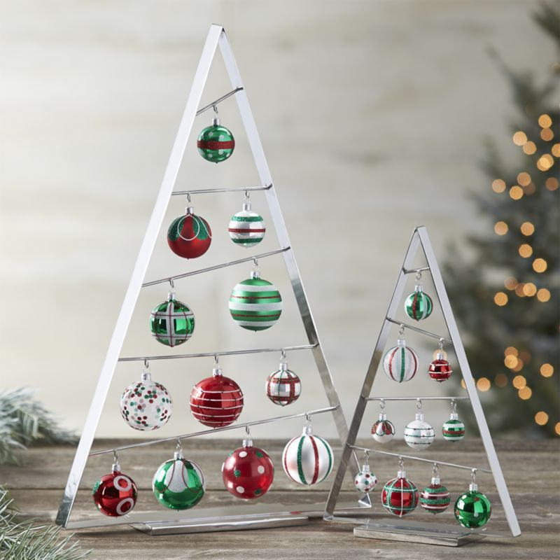 The tannenbaum goes triangular in our modern A-frame ornament tree ...