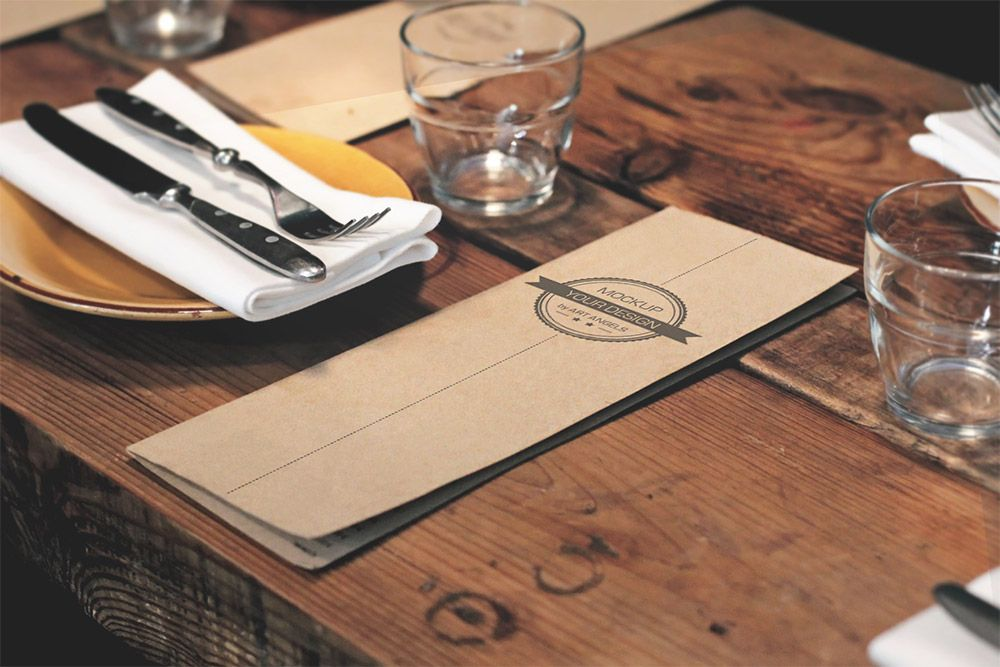Download restaurant menu mockup free psd display your for Kitchen table cafe menu