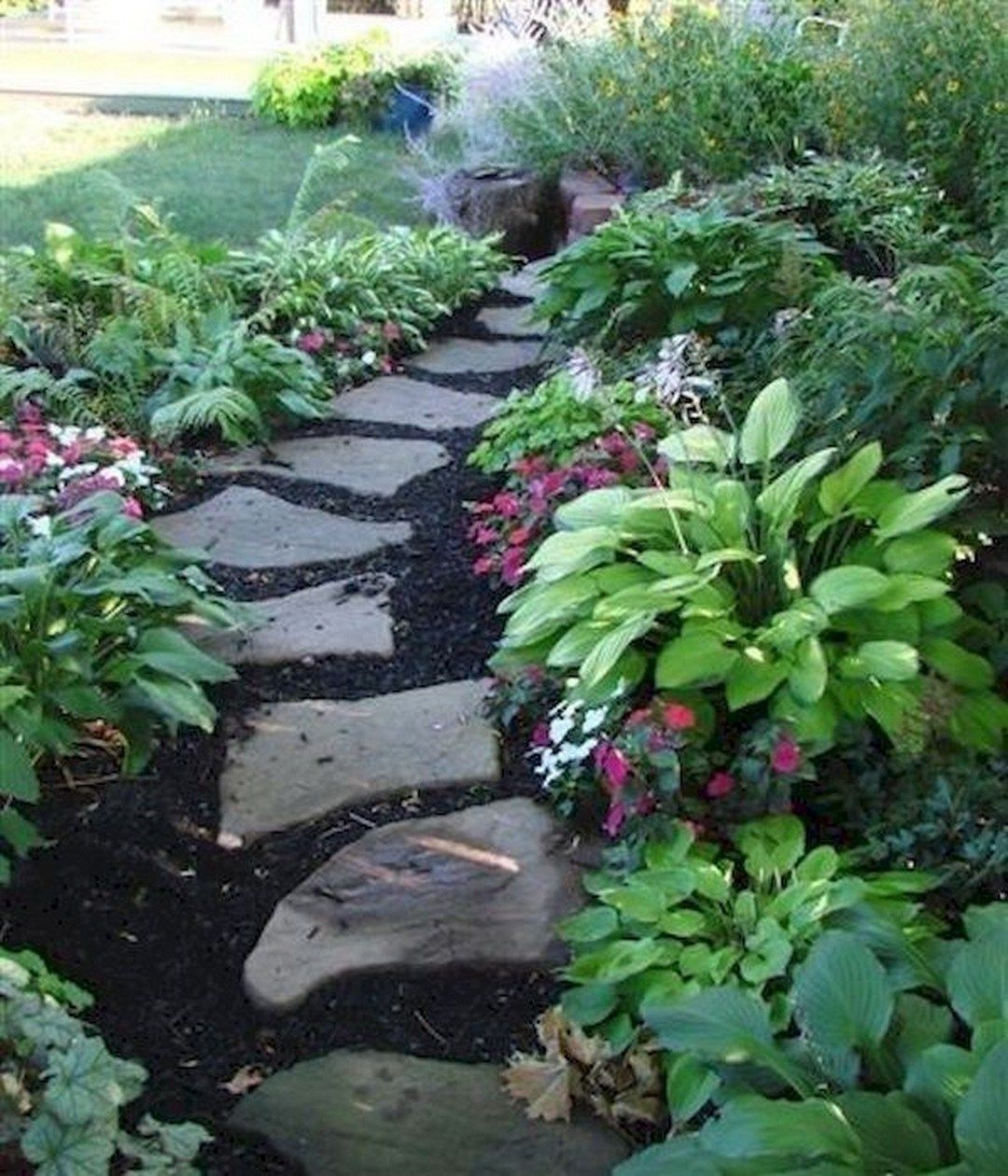 Cheap Easy Walkway: 74 Cheap And Easy Simple Front Yard Landscaping Ideas (44