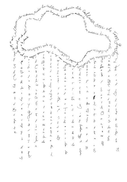 nube, lluvia, caligrama | Escribir | Pinterest | Caligramas ...
