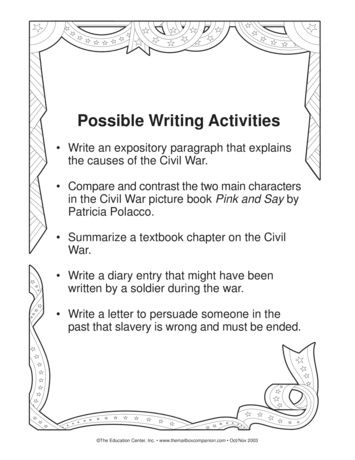 Civil War Writing Activities Lesson Plans The Mailbox Civil War Writing Prompts Writing Activities Civil War Writing Civil war worksheets 5th grade