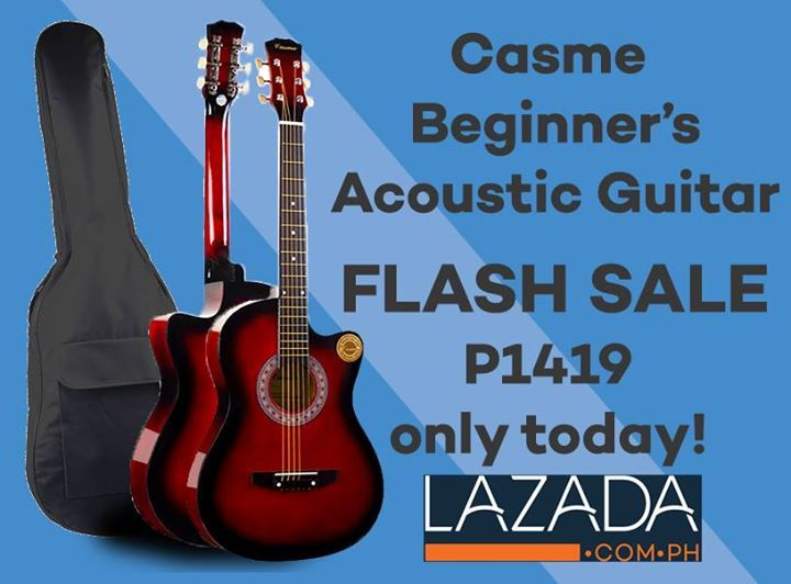 Casme Beginners Acoustic Guitar Flash Sale On Lazada Today Get Yours Now And Start Achieving Your Guitar Playing Dreams Guitar Acoustic Acoustic Guitar