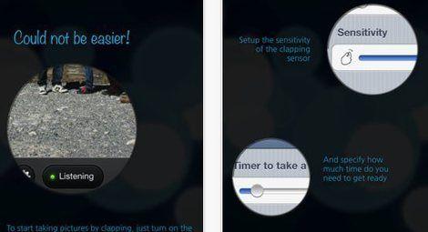 Clapmera, toma fotografías con una palmada de manos en iOS