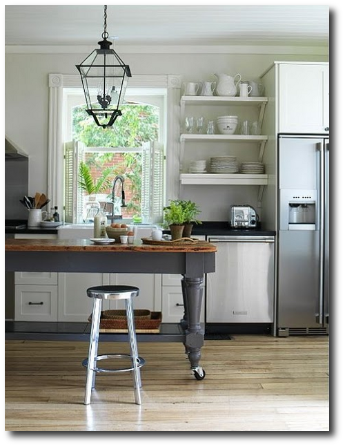 I Love The Rustic Utilitarian Feel Of The Farmhousekitchenisland - Farmhouse style kitchen islands