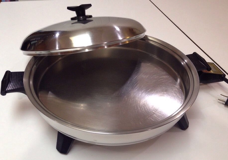 Rare Rena Ware Waterless Cookware Huge Oil Core Electric