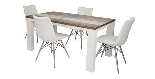 Cabrilo Medium Fixed Dining Table Set Of 4 Ambra Chairs Chair