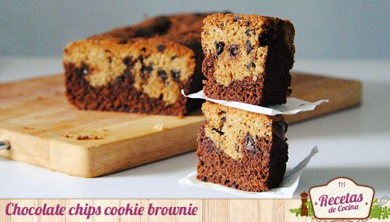 Chocolate chips cookie brownie ¡endulzate!