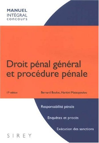 Telecharger Droit Penal General Et Procedure Penale Livre Bernard Bouloc Haritini Matsopoulou Pdf Sellrapalea Ebook Pdf Ebook Pie Chart