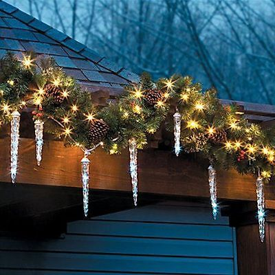 Rustic Retreat Collection On Ebay Hanging Christmas Lights Icicle Christmas Lights Christmas Lights
