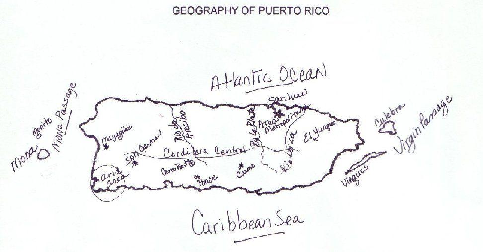 Puerto Rico Maps Puerto Rico Map Puerto Rico Art Puerto Rico