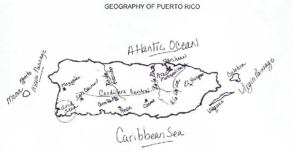 Puerto Rico Maps Puerto Rico Map Puerto Rico Flag Drawing