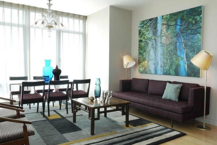 Nach Feng Shui Wohnzimmer Einrichten -Erdtoene-Couch-Leselampe