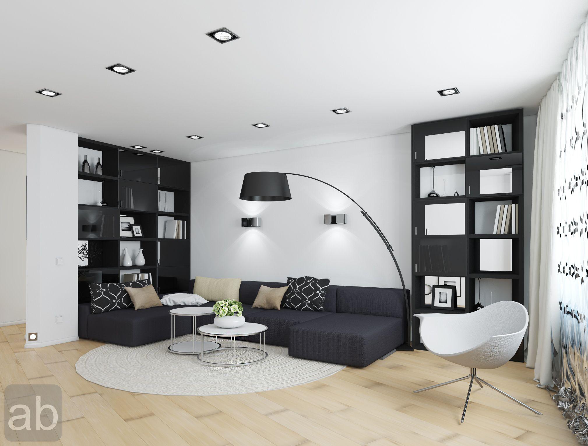 Black White Living Room White And Black Living Room Design With