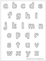 Lower Case Letters Coloring Page Letter Stencils Printables Alphabet Templates Letter A Crafts