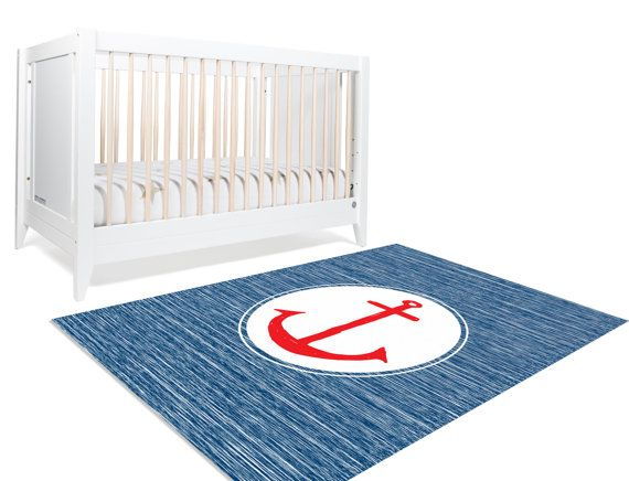Nautical Rug Nautical Decor Anchor Nursery Decor Nautical Nursery