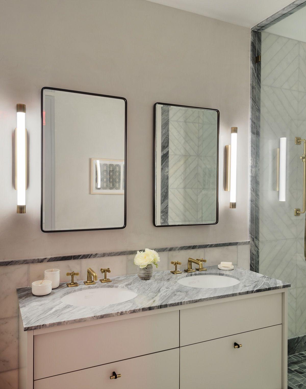 Bathroom At The Symon Apartment In Nyc In 2020 Sales Office Studio Bathroom [ 1527 x 1200 Pixel ]