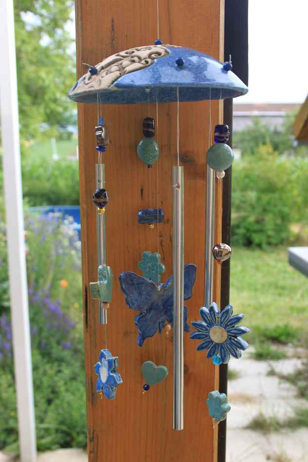 Klangspiel Blau Windspiele Klangspiel Wohnen Und Garten