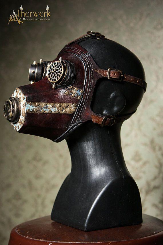 Steampunk Leder Gasmaske Von Aetherwerk Auf Etsy ätherwerk